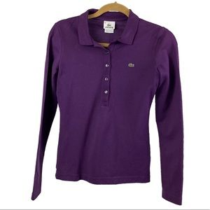 Lacoste purple long sleeve top size 36/US 4/ small